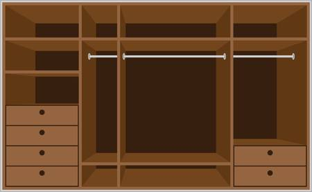 Wardrobe room. Furniture Illustration
