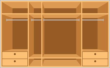 гардероб: Гардеробная комната. Мебель Иллюстрация