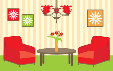 Living room Stock Vector - 12480950