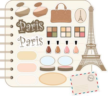 france perfume: Scrapbook elements  Illustration