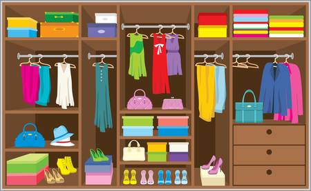 Wardrobe room. Furniture. Vector