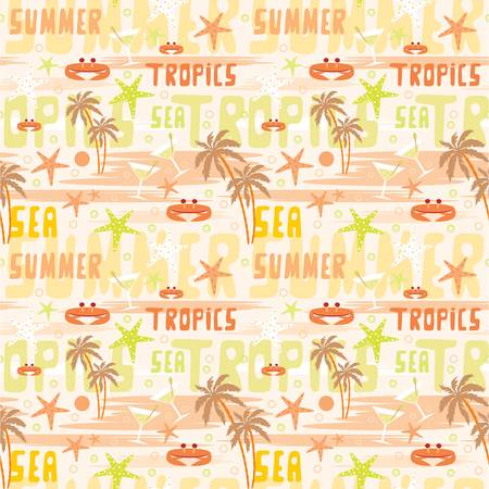Seamless tropical pattern Stock Vector - 12481036