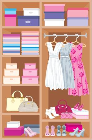 bedclothes: Wardrobe room  Furniture Illustration