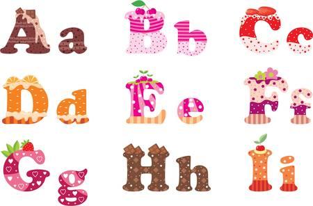 Süße Buchstaben des Alphabets