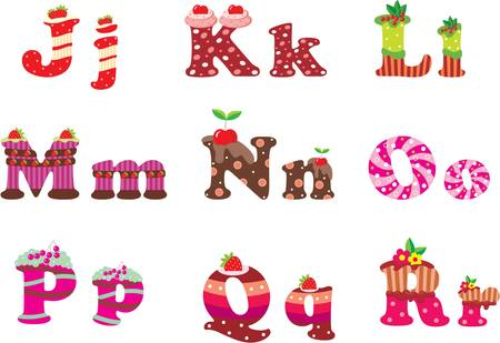 confection: Sweet letters of the alphabet Illustration