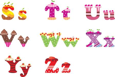 Sweet letters van het alfabet Vector Illustratie