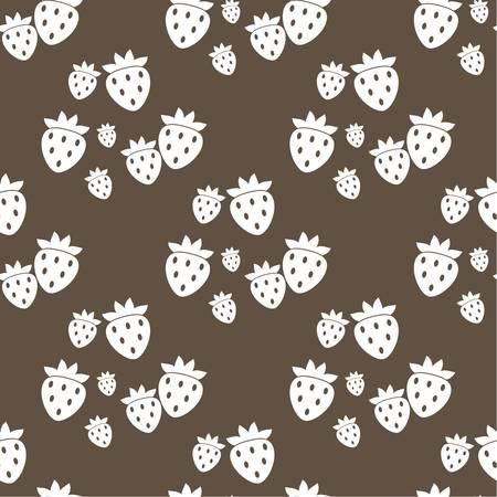 wild strawberry: Seamless fruit pattern