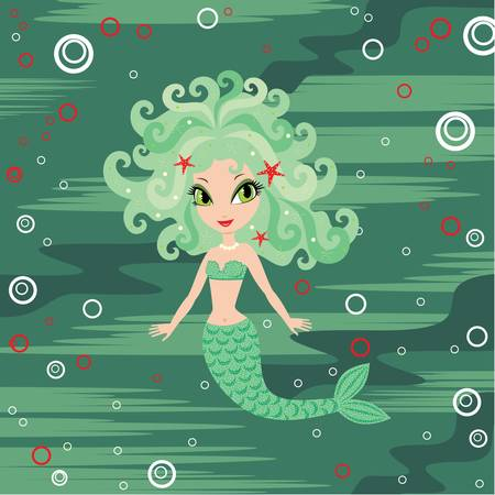 Mermaid cartoon Stock Vector - 13238927