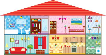 bad: Haus Illustration