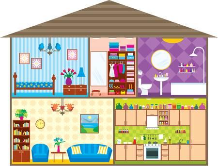 innen: Haus Illustration