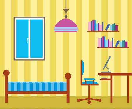 interior decoration: Living room Illustration