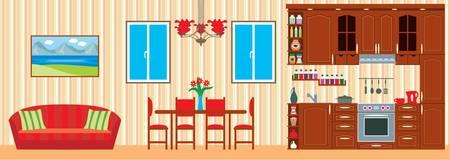 Les meubles de cuisine. Intérieur