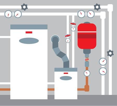 tuberias de agua: Sala de calderas
