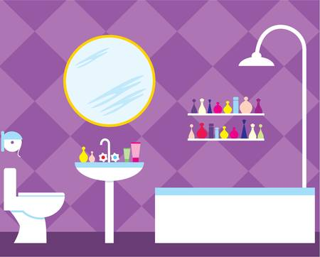 toiletry: Bathroom Illustration
