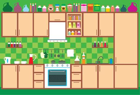 kuchnia: Meble kuchenne. Wnętrze