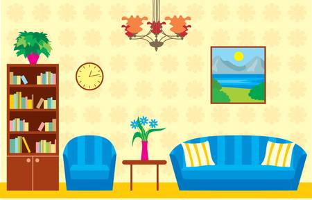 Living room Stock Vector - 13610364