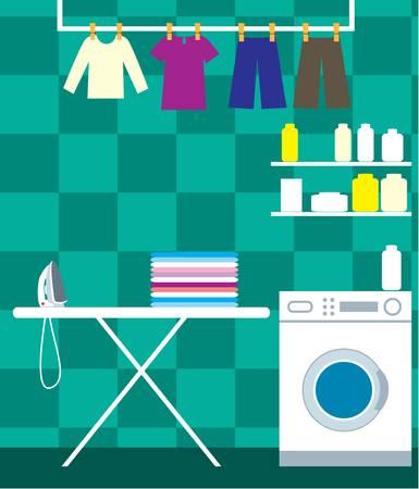 Washing room Vector