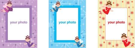 birthday angel: Photo frames with fairys Illustration