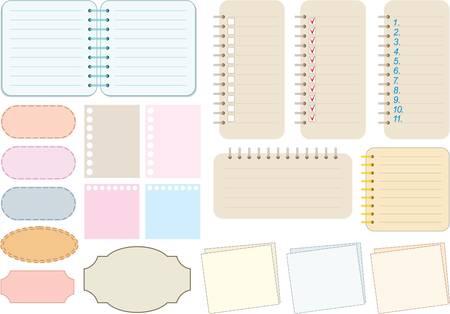 Scrapbook elemekkel. Papír és notebook Illusztráció