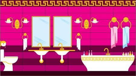 Bathroom in the Greek style Vector