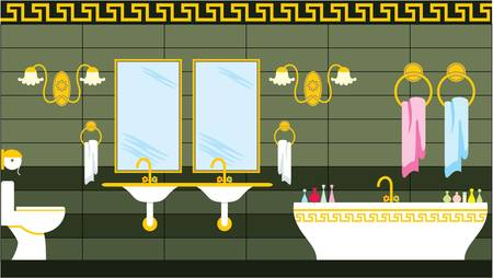 Bathroom in the Greek style Stock Vector - 13917992