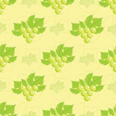 Seamless grapes pattern Vector