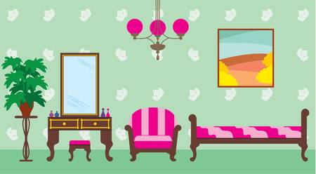 baroque room: Living room Illustration
