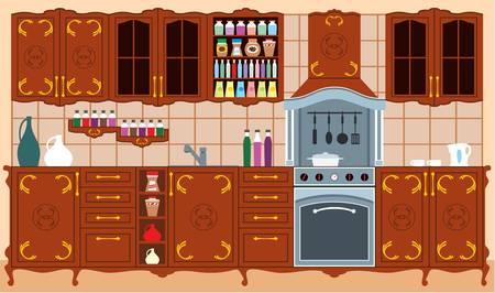 kitchen furniture: Kitchen furniture. Interior.