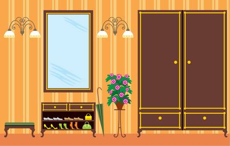 hall: Entrance hall in apartment Illustration