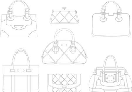 Los contornos de las bolsas de las mujeres