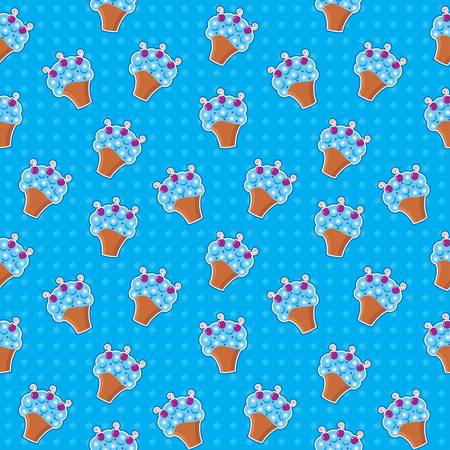 Seamless cupcake pattern Stock Vector - 14212117