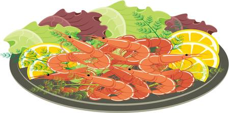 1,167 Shrimp Appetizer Stock Vector Illustration And Royalty Free ...