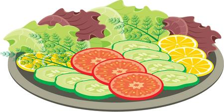 cucumber salad: Plate with vegetables