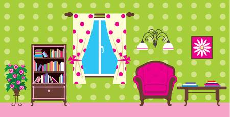 classic living room: Living room Illustration