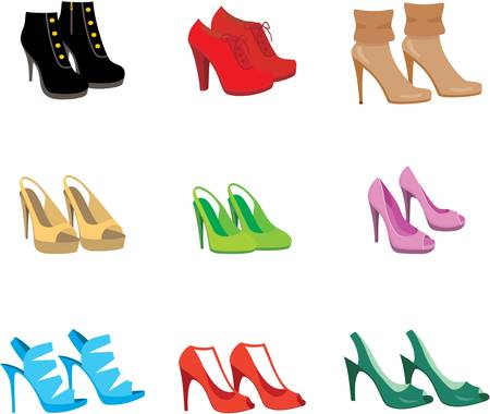 hairpin: Female shoes set