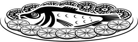 delectable: Icon of a fish dish