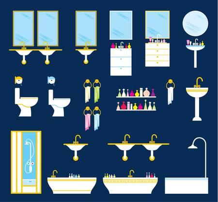 Fürdőszoba felszerelés szett Illusztráció