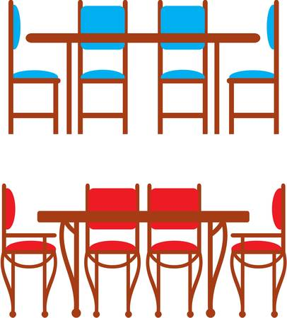 lunch room: Set of dining tables and chairs