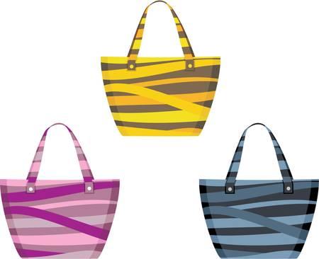 beach bag: Set of beach bags