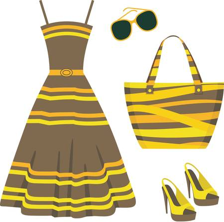 woman beach dress: Summer set of clothes