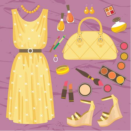vintage clothing: Fashion set