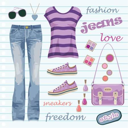 Jeans fashion set