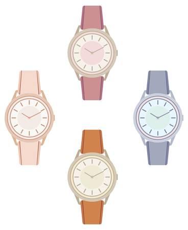 wrists: Female wristwatch Illustration