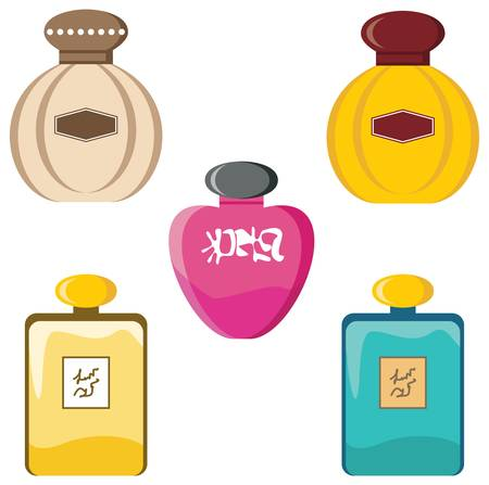 eau de toilette: Perfumery set Illustration