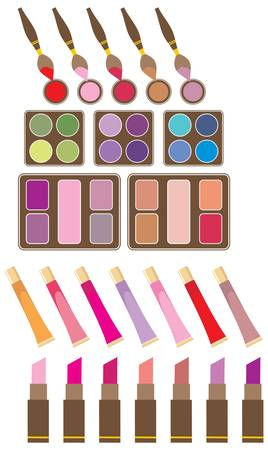 Set of decorative cosmetics Illustration