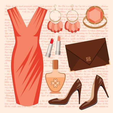 серьги: Мода установить с платьем