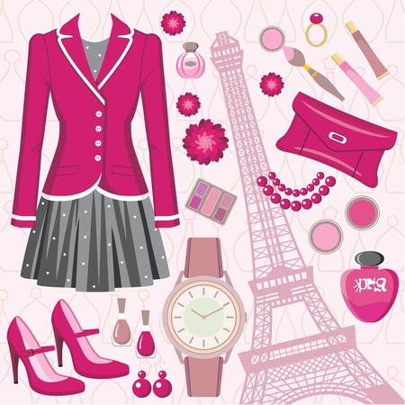 france perfume: Fashion set