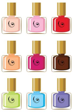 pedicure set: Nail polishes