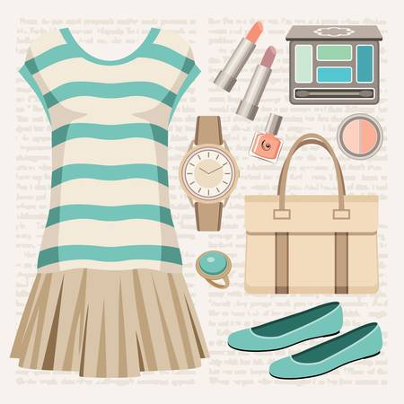 ballerina shoes: Fashion set with a top and a skirt