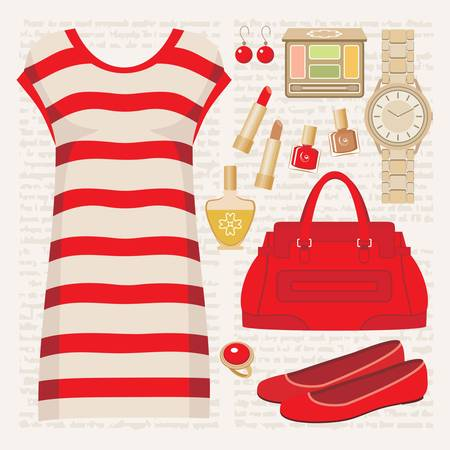 Fashion set with a tunic Stock Vector - 15219387